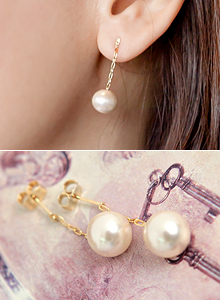 olive pearl earring S21A384