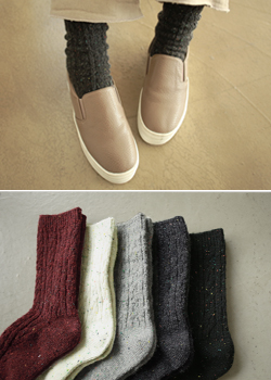 Color key point socks JA1078