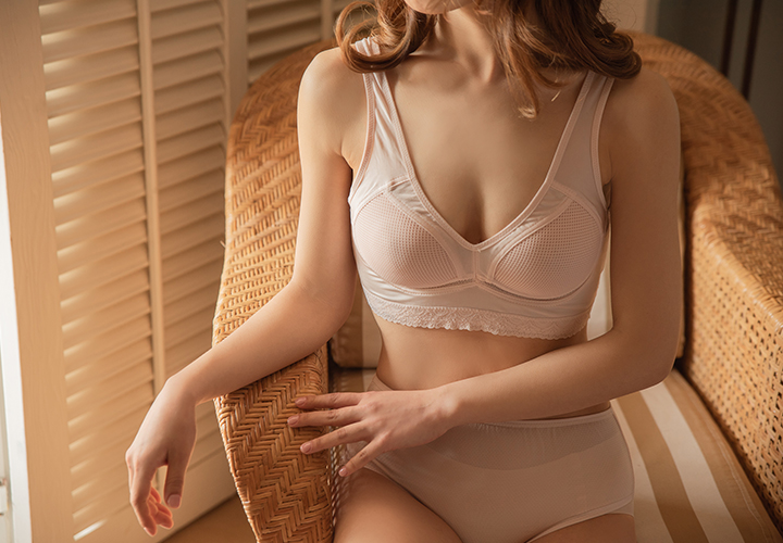 Ice cooling perforated bra JU185