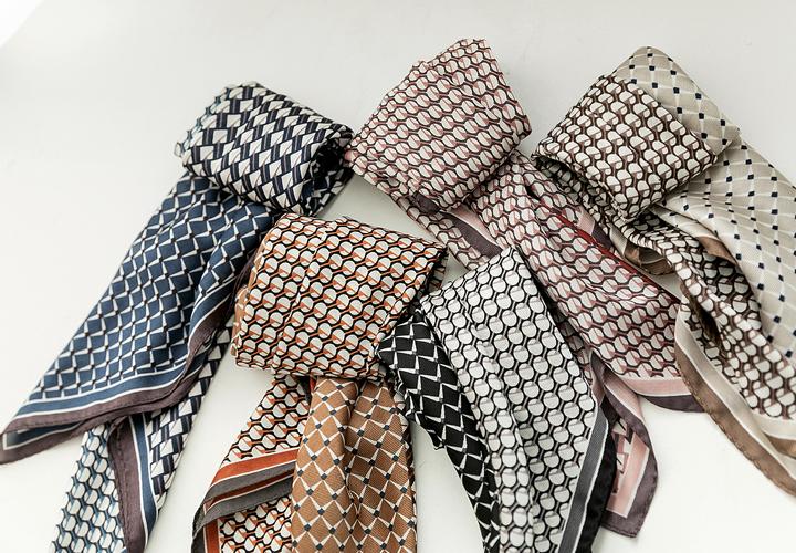 Mariden color pattern scarf JA04309