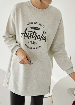 Long brushed round tee JT05037