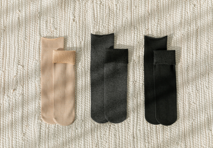 Ribbed Mink Socks JA04470