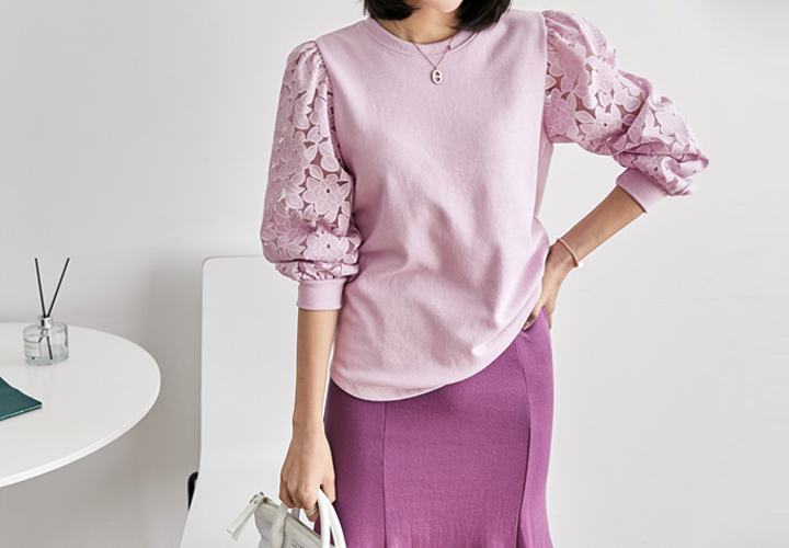 MJ ™ Spring Lace Tee JT05227