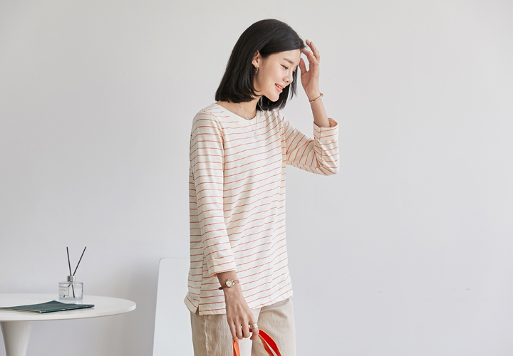 Roll Up Striped Tee JT05314
