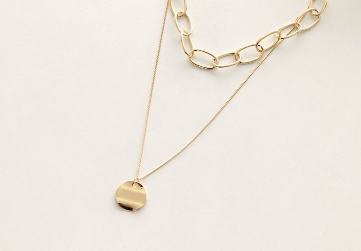 Chain layered necklace JA04569