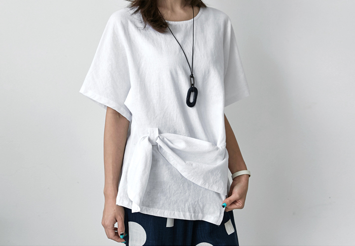 key point Linen Blouse JB1395