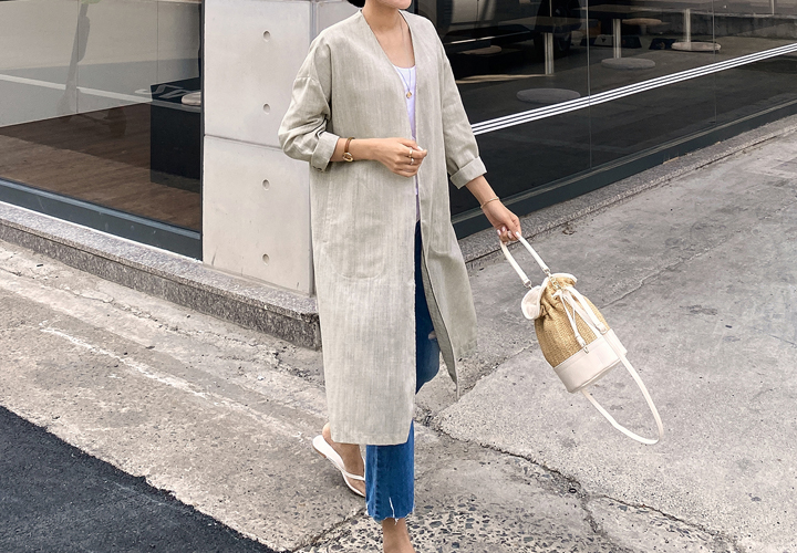 MJ ™ Marie Nokara Linen Long Jacket JJ04528