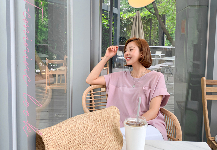 Color matching roll up tee JT05534