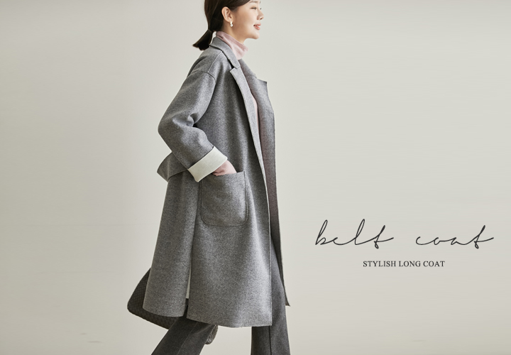 Selina Wool Belt Coat JJ04618