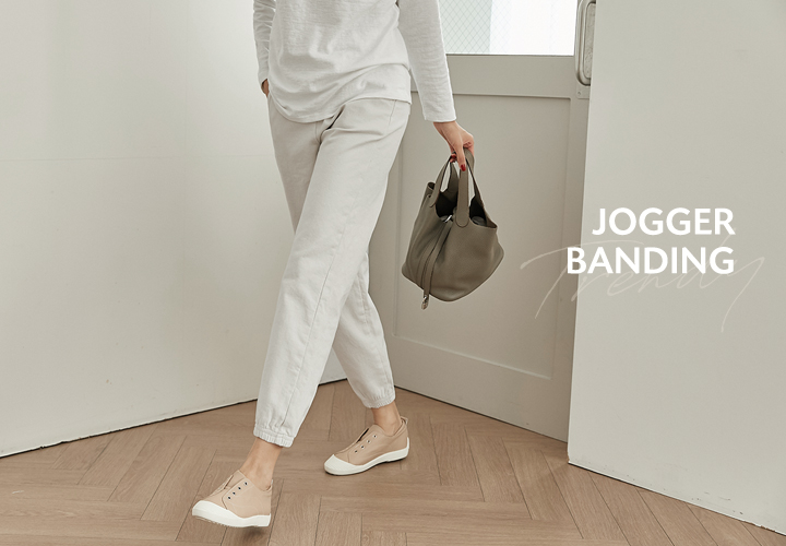 Jogger brushed banding pants JP04805