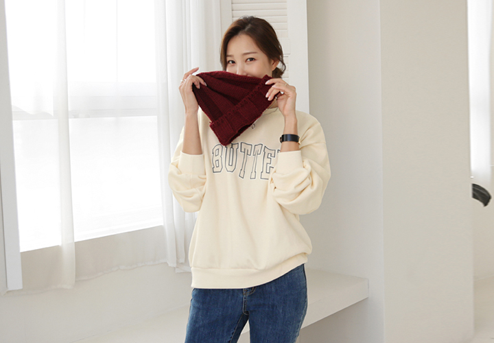 Butter brushed sweatshirt tea JT05887